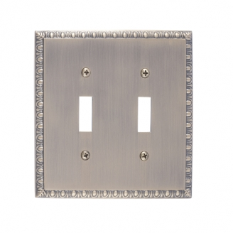Brass Accents M05-S7530-609 Egg & Dart Double Switch Plate