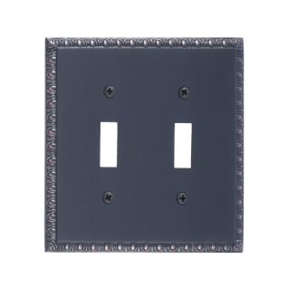 Brass Accents M05-S7530-613VB Egg & Dart Double Switch Plate