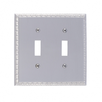 Brass Accents M05-S7530-619 Egg & Dart Double Switch Plate