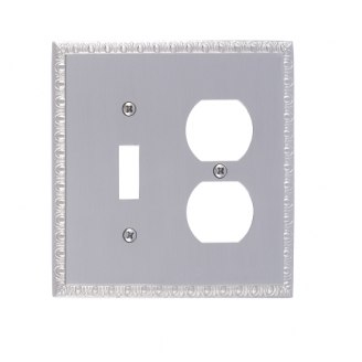 Brass Accents M05-S7540-619 Egg & Dart Double-Single Switch and Single Outlet
