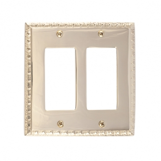 Brass Accents M05-S7570-605 Egg & Dart Double GFCI Switch Plate
