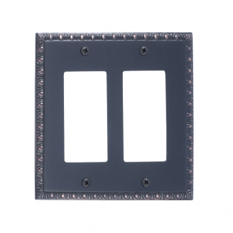 Brass Accents M05-S7570-613VB Egg & Dart Double GFCI Switch Plate