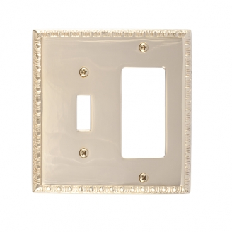 Brass Accents M05-S7571-605 Egg & Dart Double-Single Switch and Single GFCI