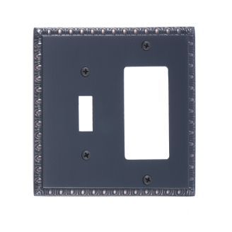 Brass Accents M05-S7571-613VB Egg & Dart Double-Single Switch and Single GFCI