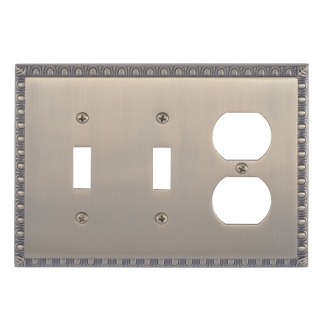Brass Accents M05-S7580-609 Egg & Dart Triple-Double Switch and Single Outlet