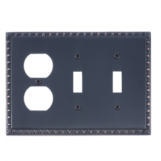 Brass Accents M05-S7580-613VB Egg & Dart Triple-Double Switch and Single Outlet