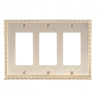 Brass Accents M05-S7590-605 Egg & Dart Triple GFCI Switch Plate