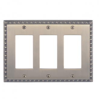 Brass Accents M05-S7590-609 Egg & Dart Triple GFCI Switch Plate