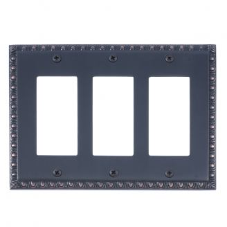 Brass Accents M05-S7590-613VB Egg & Dart Triple GFCI Switch Plate