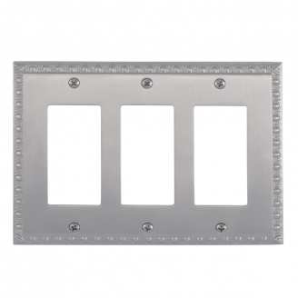 Brass Accents M05-S7590-619 Egg & Dart Triple GFCI Switch Plate