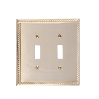 Brass Accents M06-S8530-605 Georgian Double Switch Plate