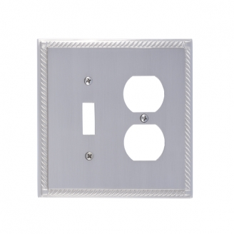 Brass Accents M06-S8540-605-619 Georgian -Single Switch and Single Outlet Plate