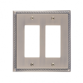 Brass Accents M06-S8570-609 Georgian Double GFCI Switch Plate