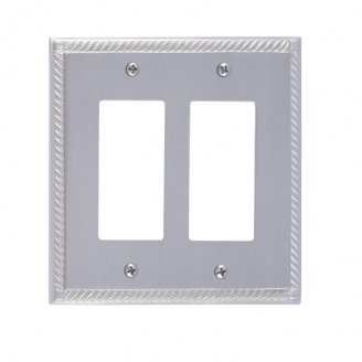 Brass Accents M06-S8570-619 Georgian Double GFCI Switch Plate