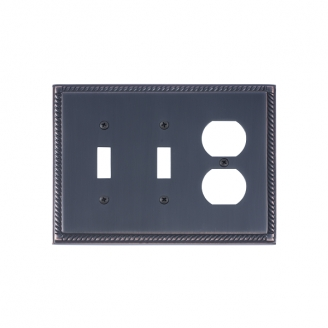 Brass Accents M06-S8580-613VB Georgian Triple-Double Switch and Single Outlet