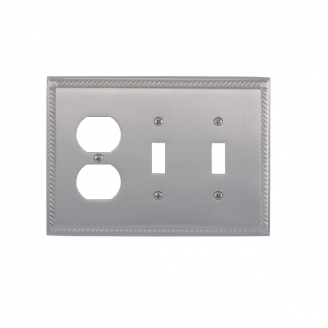 Brass Accents M06-S8580-619 Georgian Triple-Double Switch and Single Outlet