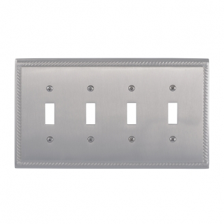 Brass Accents M06-S8591-619 Georgian Quad Switch Plate
