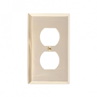 Brass Accents M07-S4510-605 Quaker Single Outlet Plate