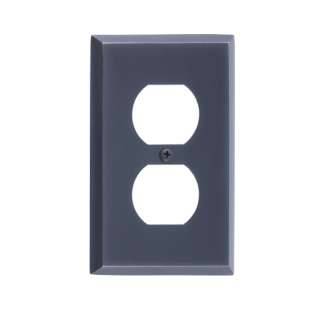 Brass Accents M07-S4510-613VB Quaker Single Outlet Plate