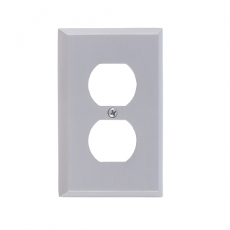 Brass Accents M07-S4510-619 Quaker Single Outlet Plate