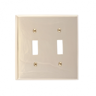 Brass Accents M07-S4530-605 Quaker Double Switch Plate