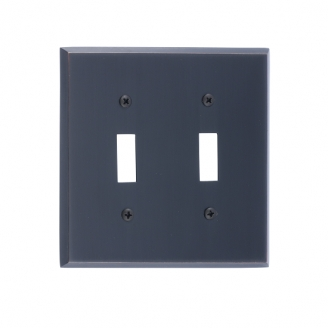 Brass Accents M07-S4530-613VB Quaker Double Switch Plate