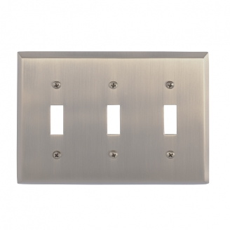 Brass Accents M07-S4550-609 Quaker Triple Switch Plate
