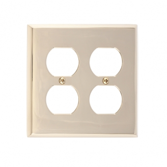 Brass Accents M07-S4560-605 Quaker Double Outlet Plate