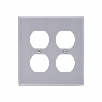 Brass Accents M07-S4560-619 Quaker Double Outlet Plate