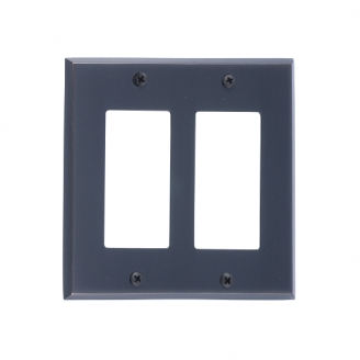 Brass Accents M07-S4570-613VB Quaker Double GFCI Switch Plate