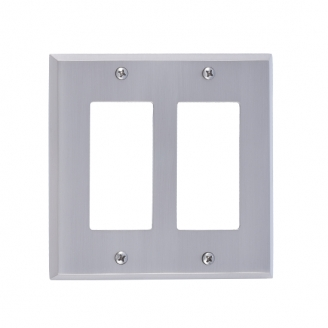 Brass Accents M07-S4570-619 Quaker Double GFCI Switch Plate