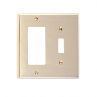 Brass Accents M07-S4571-605 Quaker Double-Single Switch and Single GFCI