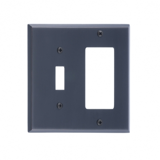 Brass Accents M07-S4571-613VB Quaker Double-Single Switch and Single GFCI
