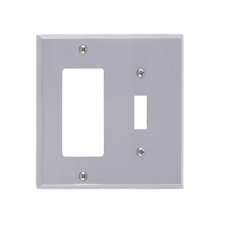 Brass Accents M07-S4571-619 Quaker Double-Single Switch and Single GFCI