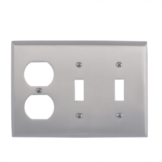 Brass Accents M07-S4580-619 Quaker Triple-Double Switch and Single Outlet