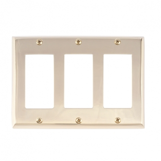 Brass Accents M07-S4590-605 Quaker Triple GFCI Switch Plate