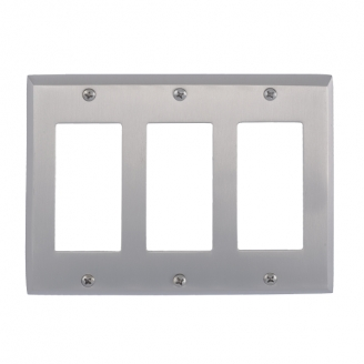 Brass Accents M07-S4590-619 Quaker Triple GFCI Switch Plate