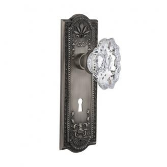 Nostalgic Warehouse Meadows Backplate with Chateau Crystal knob
