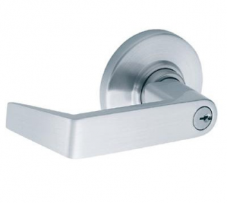 Schlage ND Series Heavy Duty Rhodes Entrance Lever (ND53PD) in satin chrome