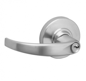 Schlage ND Series Heavy Duty Sparta Entrance Lever (ND53PD) in satin chrome