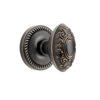 Grandeur Grande Victorian Knob with Newport Rose Timeless Bronze