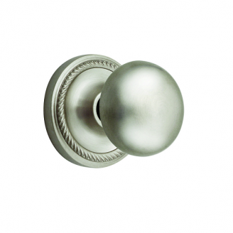 Nostalgic Warehouse New York Privacy Mortise with Rope Rose Satin Nickel