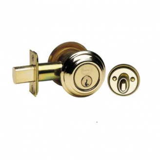 Omnia D0806T Traditional Auxiliary Deadbolt Polished Brass (US3)