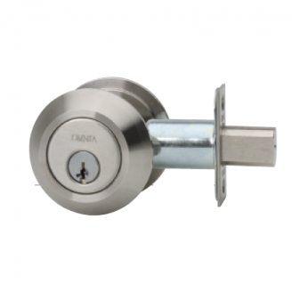 Omnia D9000 Modern Auxiliary Deadbolt Brushed Stainless Steel (US32D)