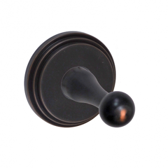 Fusion Decorative Series Robe Hook with Stepped Rose Oil Rubbed Bronze