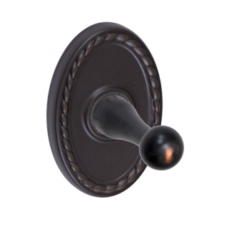 Fusion Decorative Series Robe Hook with Oval Rope Rose Oil Rubbed Bronze