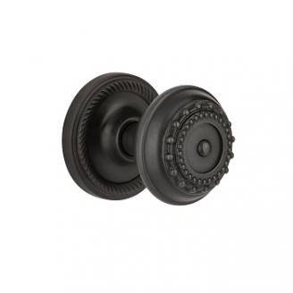 Nostalgic Warehouse Meadows Knob with Rope Rose Oil Rubbed Bronze