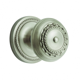 Nostalgic Warehouse Meadows Knob with Rope Rose Satin Nickel