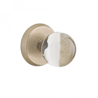 Emtek Bronze Bristol Crystal Door Knob with #2 Tumbled White Bronze (TWB)