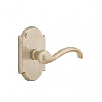 Emtek Teton Door lever with #1 Rose Tumbled White Bronze (TBW)